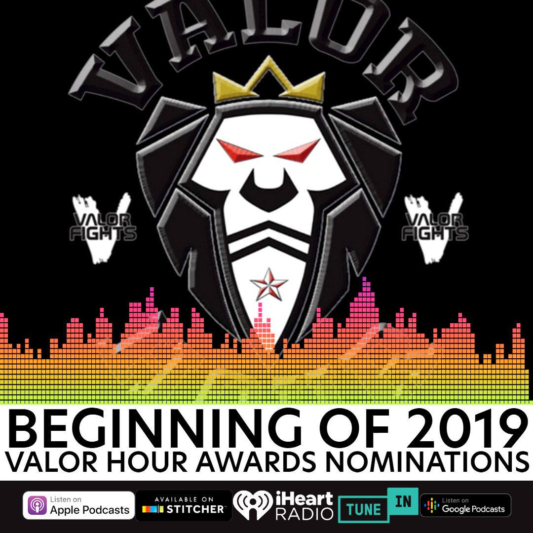 Today on The Valor Hour, @VALORFights matchmaker @tzloy, Justin Watson, and Greg Hopkins do a brief recap of #UFCSP and then start announcing the Valor Hour Awards nominations for 2019. Will your favorite fighters be nominated? Listen now!  🔊 http://ow.ly/7NmH50xgDtf 🔊