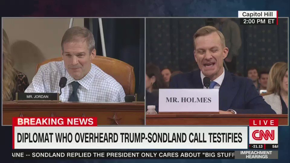 Replying to @joncoopertweets: It's a truly beautiful thing to watch David Holmes mop the floor with @Jim_Jordan.