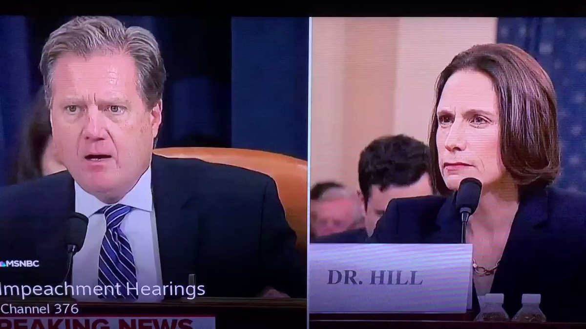 WTF is this?? This is what the GOP is doing now? Ridiculing the witnesses, questioning their intentions and character, screaming at them, and then not asking questions? Plus he flipped his nameplate over so twitter wouldn't call him out Mike Turner is a Dick #ImpeachmentHearings