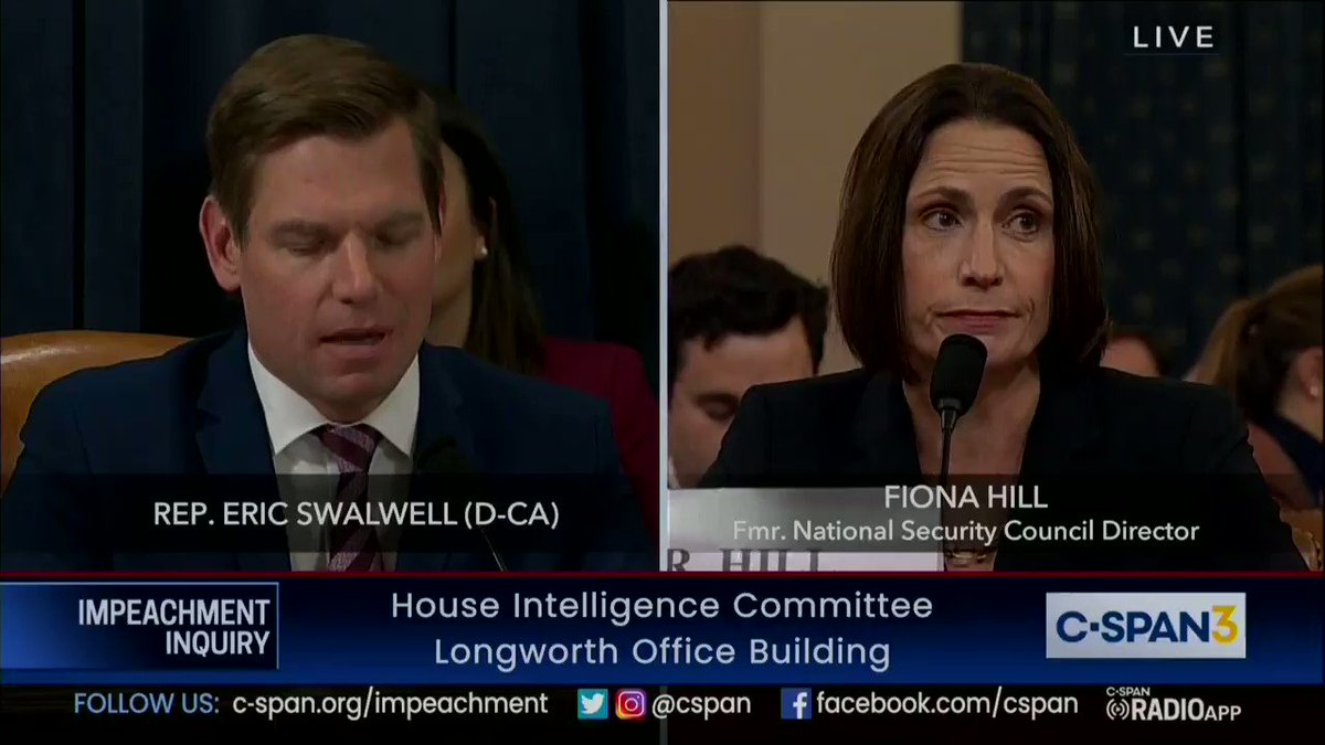 I was a little behind and just got here, but holy shit, if you don't watch any of the rest of the hearing, watch this clip. Swalwell just absolutely drilled Nunes. https://t.co/fMtVmhhm17
