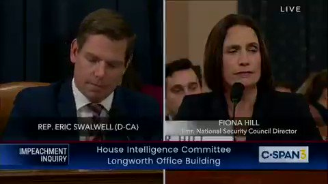 """WATCH: @RepSwalwell reads aloud  @thedailybeast's article about how indicted Putin oligarch/Russian mob-linked Giuliani associate Lev Parnas preciously HELPED @DevinNunes, making Nunes a """"fact witness"""" — with Nunes looking mighty uncomfortable."""