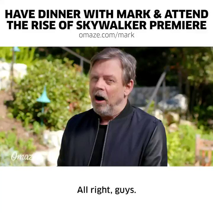 You don't want to miss your chance to win dinner with me AND tickets to the Star Wars: The Rise of Skywalker premiere, do ya?!? This is all to support a great cause and give more kids access to higher education. So what are you waiting for? Enter ASAP: bit.ly/2Qazwxw