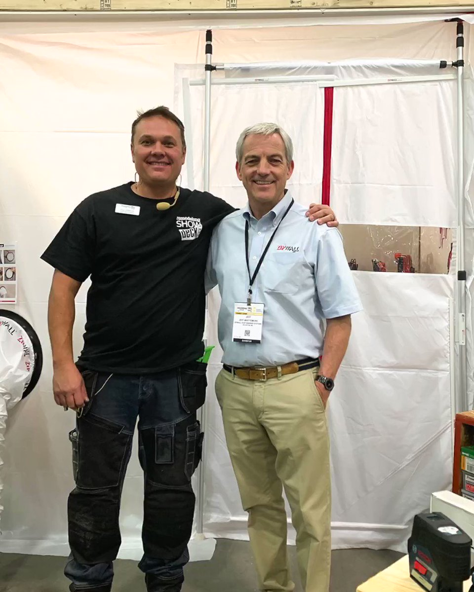 Image for the Tweet beginning: Jeff Whittemore, ZipWall founder and