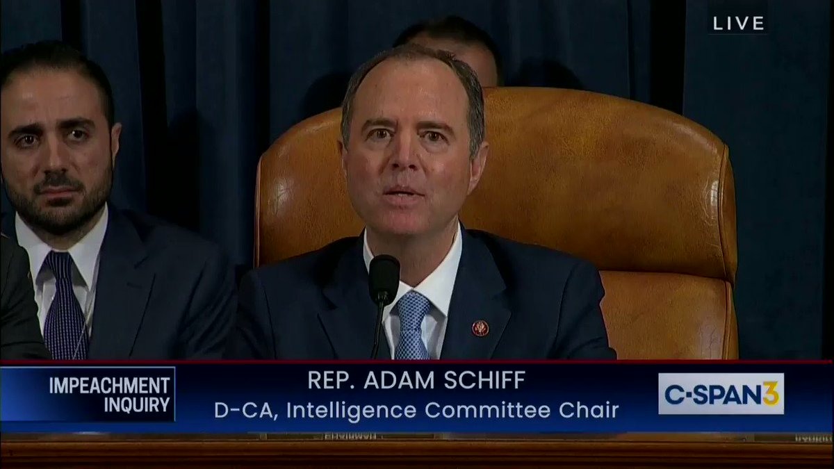 "Image for the Tweet beginning: @RepAdamSchiff closes hearing w/ ""There"