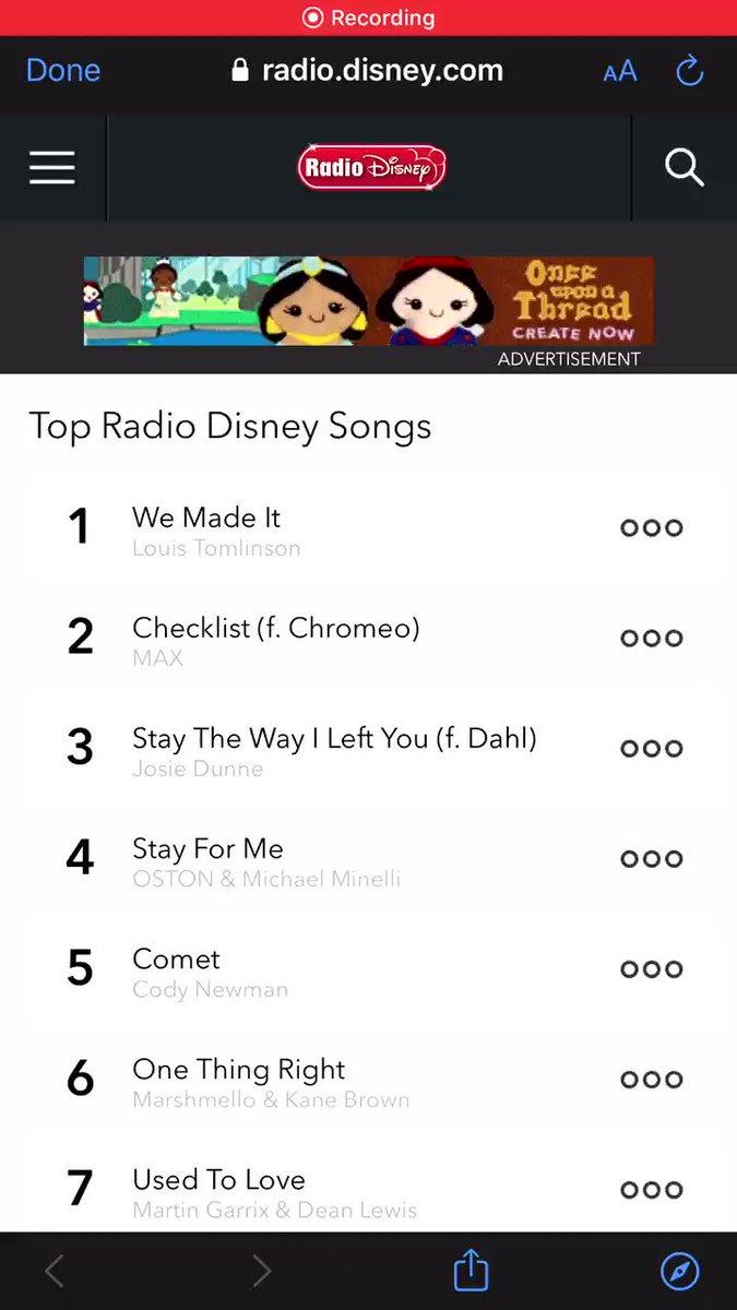 🎙| Go to radio.disney.com/top-songs and favorite #WeMadeIt! ❤️