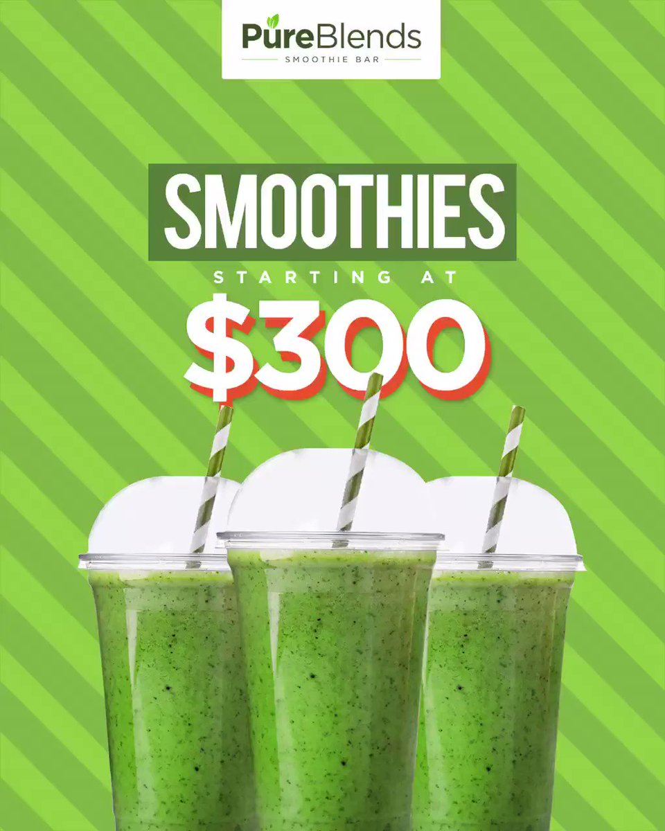 With smoothies starting at only $300 there's no reason you shouldn't be having one everyday!Come check us out at Shop 23, 7th Avenue Plaza (28 Constant Spring Road) in Half Way Tree.#PureBlendsJa #Smoothies #SmoothieBowls #JamaicanFood #Healthy