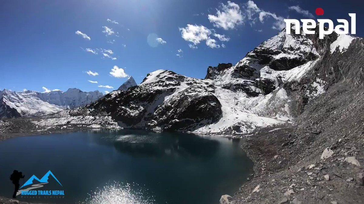 Kongma La pass view from the top, 5535m. Everest three high passes trek with Everest Base Camp. #Nepal #everesthighpassestrek #kongmalapass #mountains #everest #mountainview #lakes #nature #visitnepal2020 #everesttrek2020 #ruggedtrailsnepal https://www.ruggedtrailsnepal.com/everest-high-passes-trekking.html…