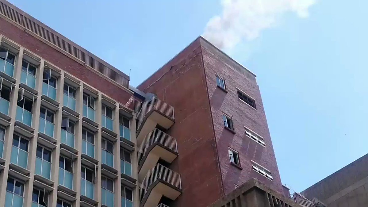 People rushed to Burroughs Building after seeing smoke only to learn that it was a hoax.