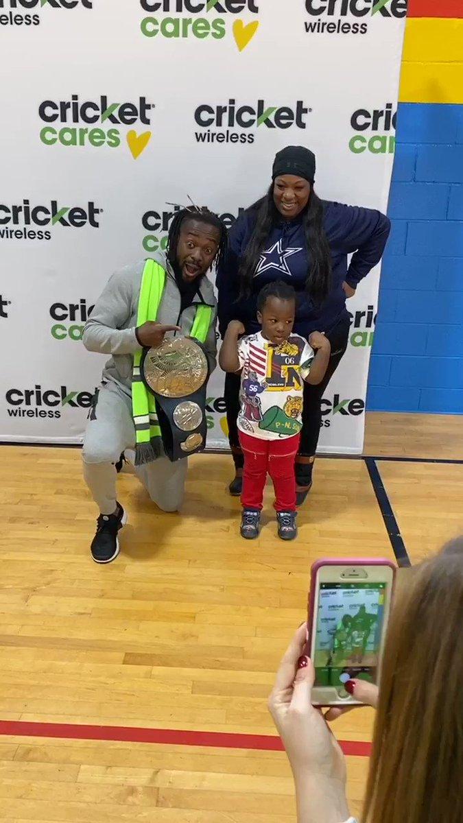 Kofi luh the kids! @Cricketnation @wwe