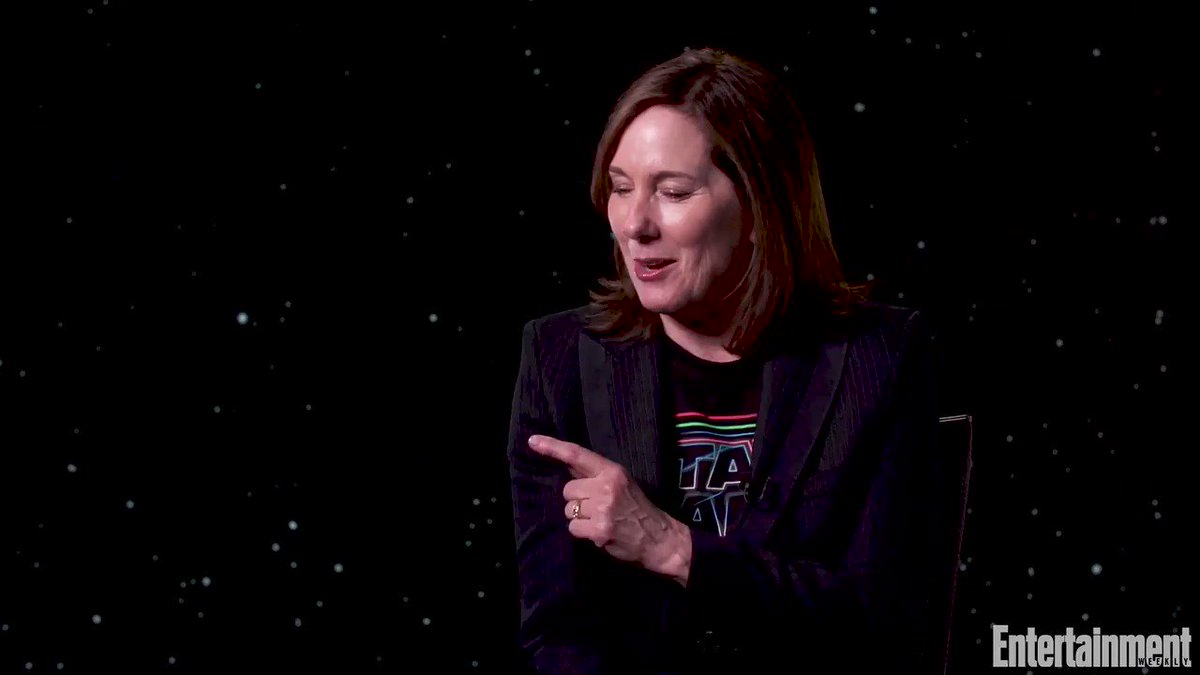 """Kathleen Kennedy: """"We sat down with George for a long meeting before we ever put pen to paper on this final episode, so we had the benefit of his thoughts. We took a lot of notes."""" @EW ew.com/movies/2019/11… #StarWars #TheRiseOfSkywalker"""