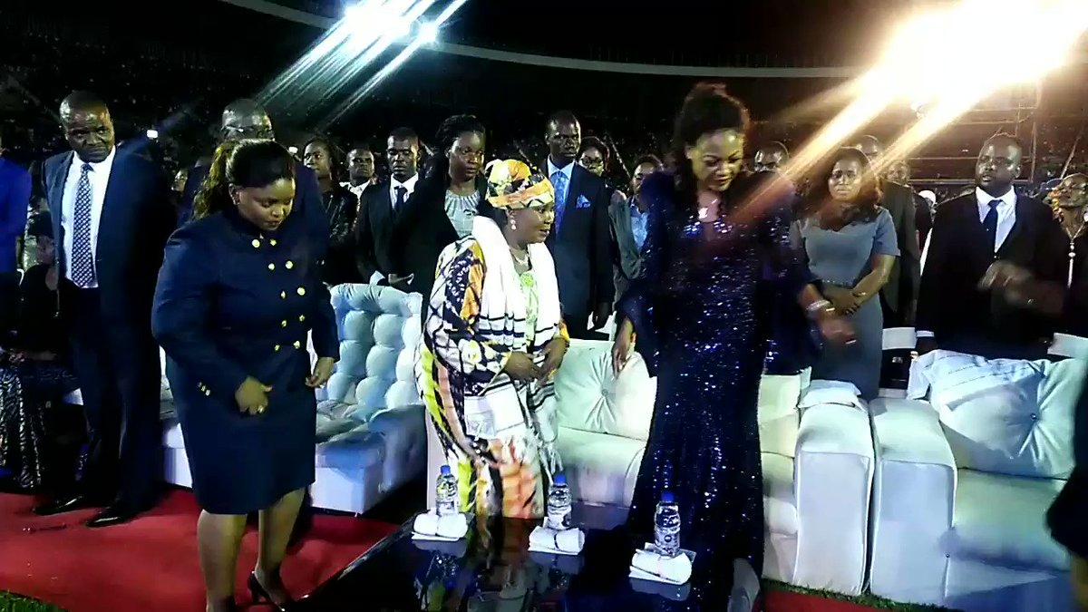 First Lady Amai Auxilia Mnangagwa gracing Daughters of Virtue ministries night of prayer at National Sports Stadium