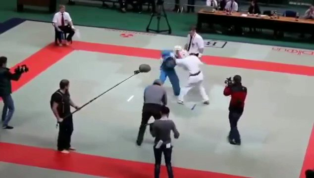 Angry referee shows his martial art 🔥😂
