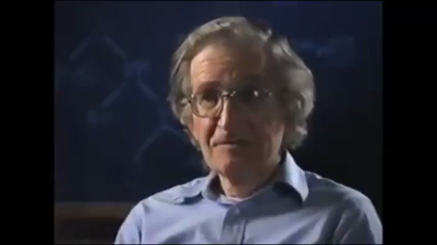 @Jonathan_K_Cook Marr: How can you know I'm self-censoring?  Chomsky: I'm not saying you're self-censoring. I'm sure you believe everything you say. But what I'm saying is if you believed something different you wouldn't be sitting where you're sitting  Marr: [dumbstruck]