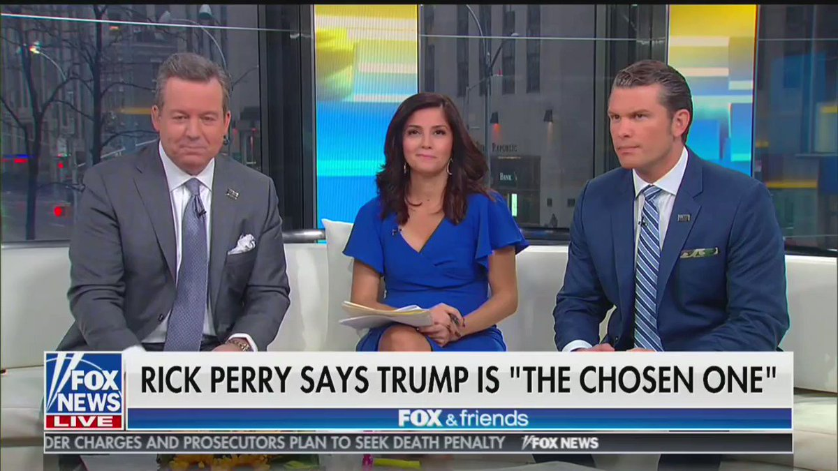 Rick Perry Calls Donald Trump The Chosen One Sent By God To Rule Over Us