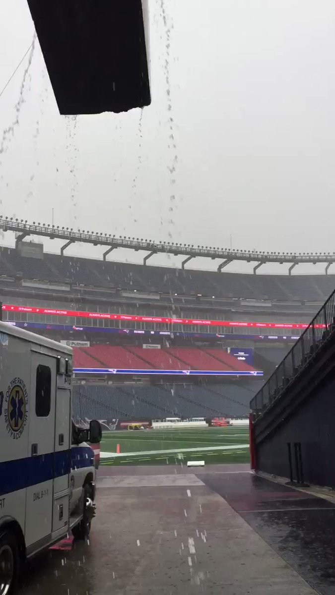 Video Shows How Nasty It Is At Gillette Stadium For Cowboys-Patriots