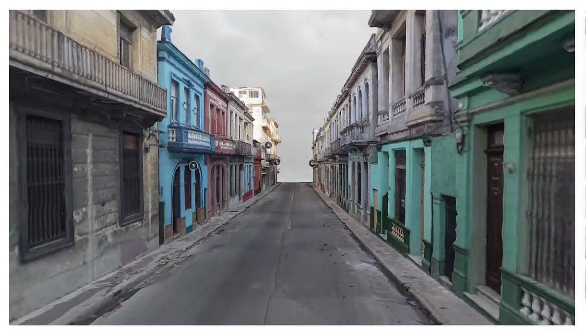Photogrammetry in La Havana: Neptuno street. Explore a portion of one of the largest streets in La Havana, Cuba in #3d #vr or #ar in @Sketchfab skfb.ly/6OTER . #photogrammetry #webgl #realtime #computervision #architecture #cuba #virtual #heritage