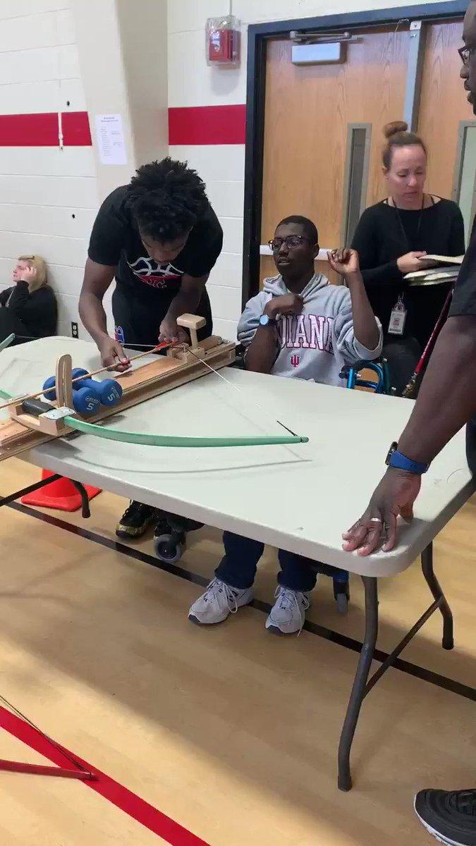 Archery for everyone! PE Mentors are awesome! ❤️🏹🎯🦃 #Ididit #PElife @pchcolts @MOSHAPE1 @edjmatt