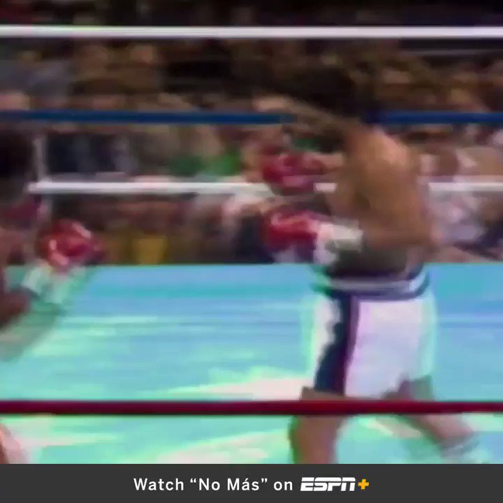 'No más. No más.' No one ever expected Roberto Duran to give less than a finishing effort against @SugarRayLeonard.
