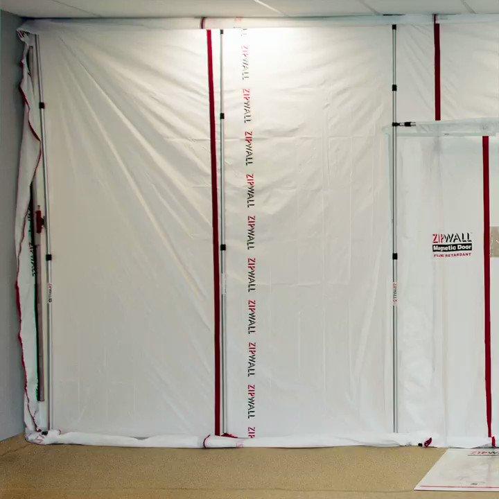 Image for the Tweet beginning: Eco-friendly ZipFast™ Reusable Barrier Panels