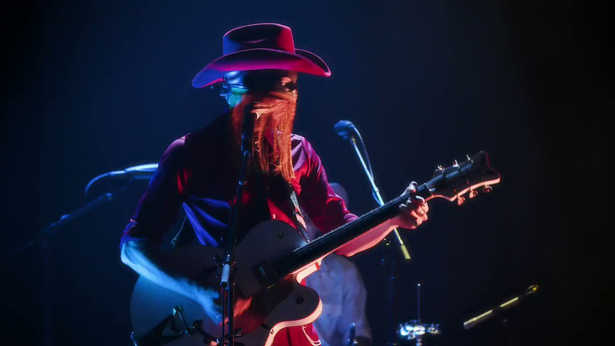Back in October we filmed THE masked cowboy himself @orvillepeck. Watch Take You Back (Iron Hoof Cattle Call) and more here: bit.ly/34nk05J