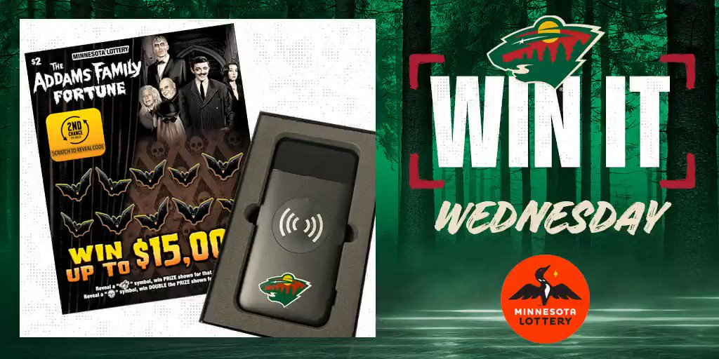 Say I'MN to #WinItWednesday.  RT for a chance to win a #mnwild portable charger, $50 in @mnlottery scratch 🎟 and more!  Rules: