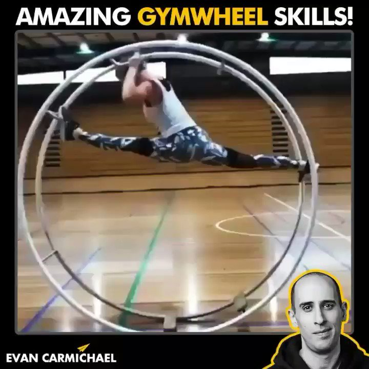 It's amazing how creativity and art can be injected into everything. What did you take away from this video? Let me know in the comments! #Believe  #EvanCarmichael #entrepreneur #gymwheel #acrobat #flexible #contortion #makesmehappy #movementculture #leappic.twitter.com/5Pwf6fwLpW