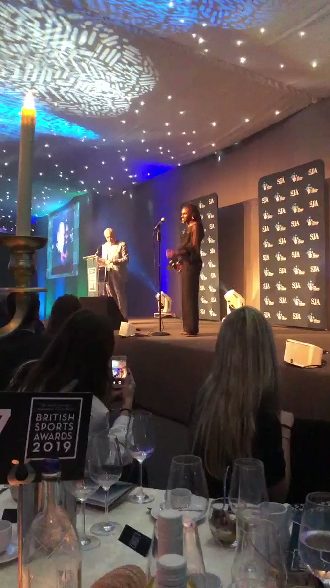 I mean 😩❤️🙌👑 Class personified. Congratulations on your @SportSJA Sportswoman of the Year award @dinaashersmith It's a privilege to be working with you for @WomensSport. Thank you for your heartfelt speech about Vikki Orvice, gender equality and media coverage. What a star.