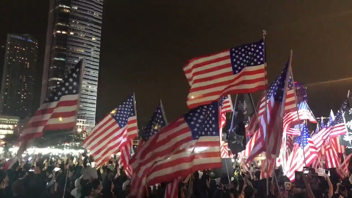 Hong Kong celebrated America today. Thank you to President Trump for supporting their brave march for freedom.
