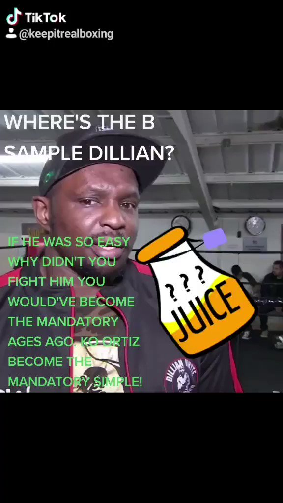 WHERE'S THE B SAMPLE DILLIAN?#keepitrealboxing #boxing #deontaywilder #dillianwhyte