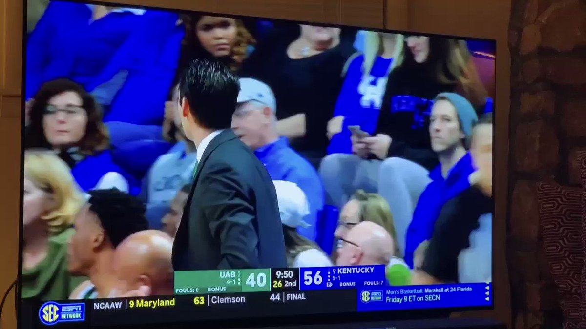 UAB's coach looks like the villainous coach from a 90s hockey movie