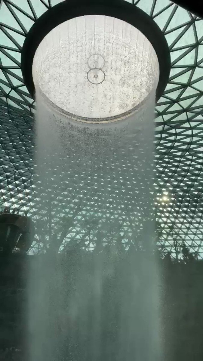 Amazing indoor waterfall. The Jewel @ChangiAirport Singapore.
