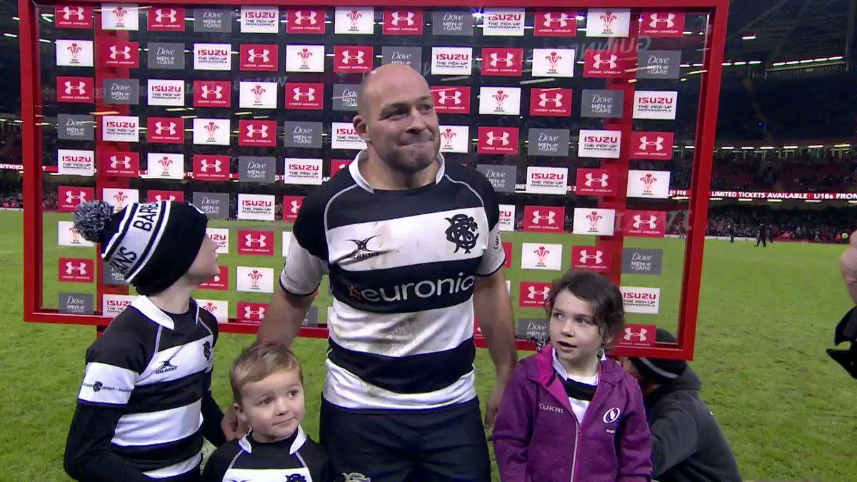 There was a touching show of gratitude from the fans in Cardiff today for one of rugbys good guys, @RoryBest2.
