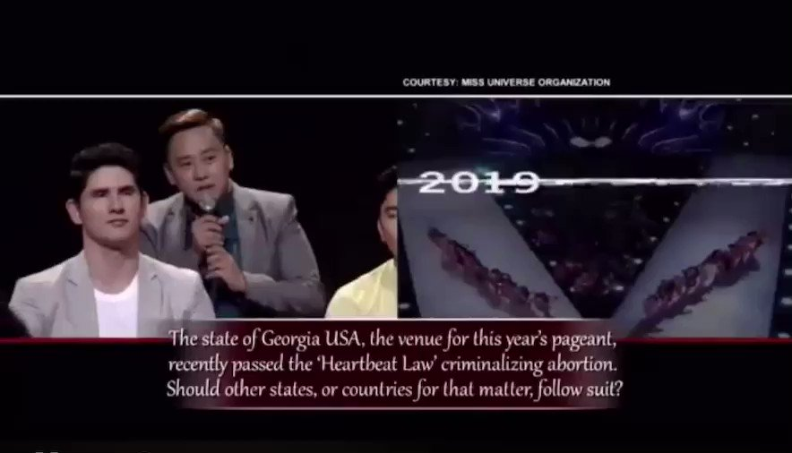 Powerful answer from GAZINI GANADOS.   Video by The Bottomline   No Copyright Infringement Intended  Watch the full episode via Iwant app. #GaziniGanados #MissUniverse2019 #MissUniverse