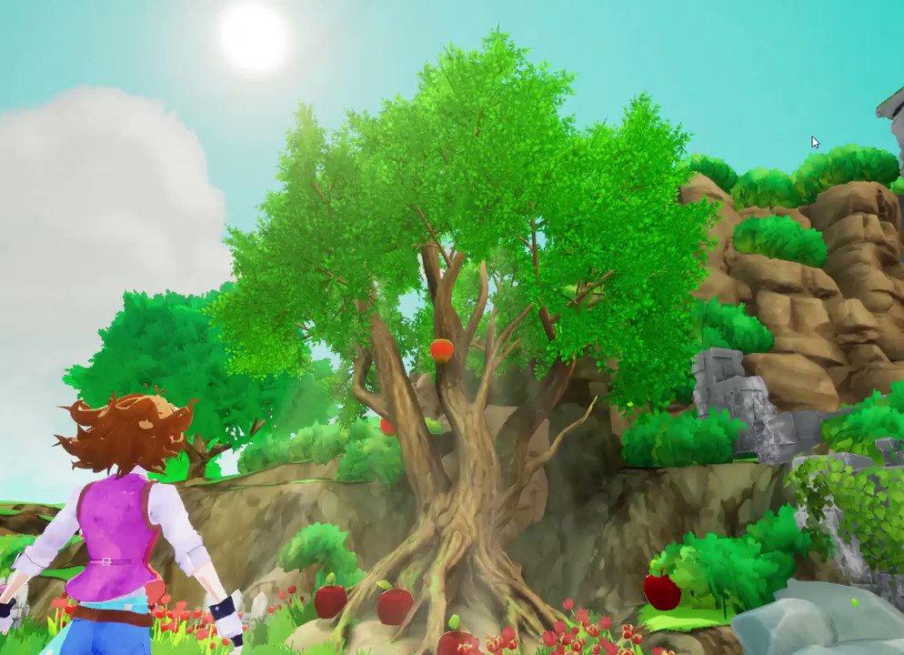 Ancient apple tree.@UnrealEngine #blender #b3d #indiegame #gameindie #UE