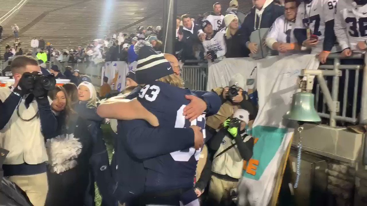 I Love 💙💙this team!!! @coachjfranklin you make my heart sing with your love for this team and fans. #PSUSeniorDay #psufootball #PSU