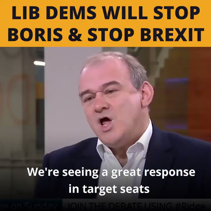If you want to stop Boris and his right wing agenda, his Brexit agenda, vote Liberal Democrat - @EdwardJDavey #Ridge Only LibDems can stop Boris Johnson. #VoteLibDem 👇 libdems.org.uk/vote-pledge