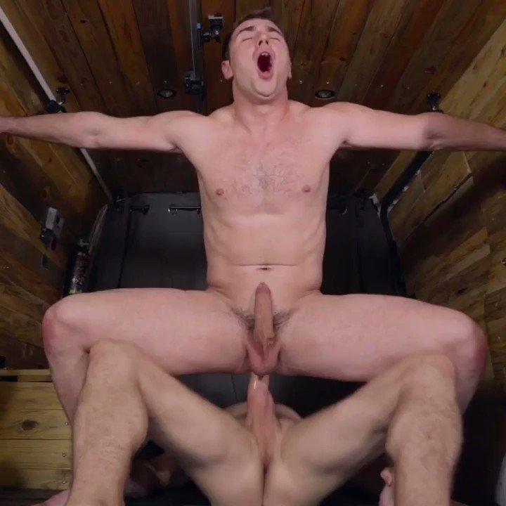 Taking his massive cock 😈