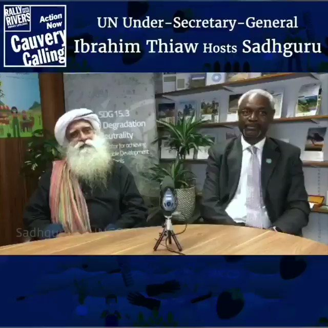 .@ibrahimthiaw the Executive Secretary of@UNCCD hosts@SadhguruJV at the #UNCCD office, where they speak about #CauveryCalling  (Video 1)  #IbrahimThiaw #Sadhguru #ishafoundation #CauveryDiaries #rallyforrivers #BollywoodwithSadhguru @ishafoundation @rallyforrivers