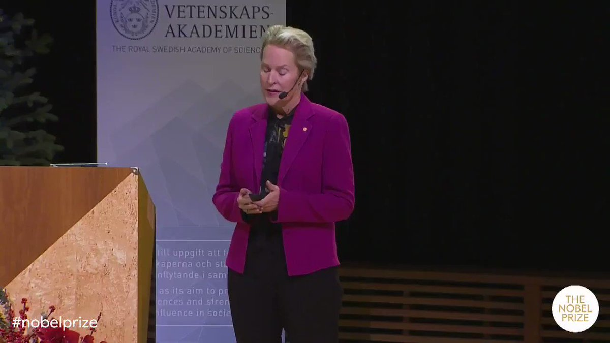 """""""The code of life is like Beethoven's Symphony - it's intricate, it's beautiful. But we don't know how to write like that."""" In her 2018 Nobel Lecture @francesarnold explained how evolution helped her in the lab. Stay tuned this weekend for this years Nobel Lectures."""
