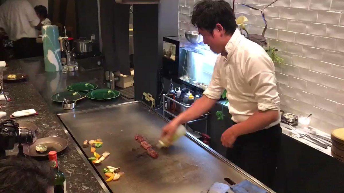 チューボーですよ!街の巨匠として紹介されたシェフの圧巻のパフォーマンス‼️鉄板焼 花(東京都渋谷区代官山町) 詳細はこちら↓↓↓↓↓