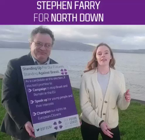 Brexit is a generational injustice & #GE2019 will shape our futures for years to come @StephenFarryMLA has consistently stood up for & engaged with young people here. There's no better person to replace the brilliant Sylvia Hermon Proud to endorse Stephen for North Down #GE2019