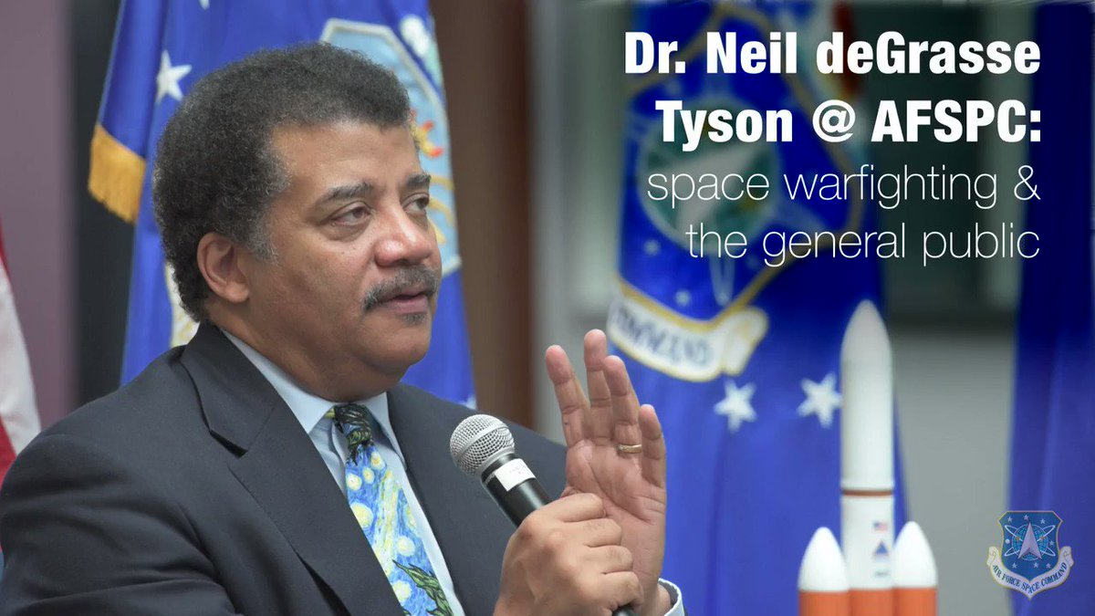 Theres been a lot of news surrounding #space lately, & many people don't realize what our space warfighters do & how critical they are to our security and economy. Luckily, we're getting some help from Dr. @neiltyson, world-famous astrophysicist. Thanks for having our backs!