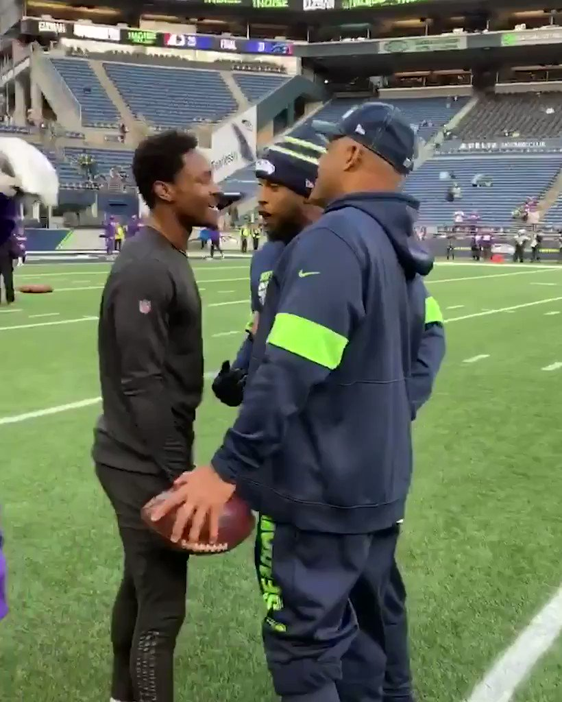 Some friendly banter between Diggs and the Seahawks    #MNF