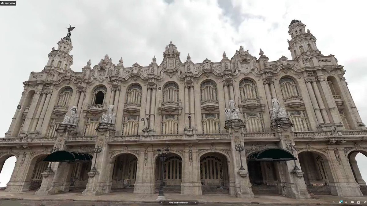 Photogrammetry in La Havana: The Grand Theatre of Havana, Cuba - 1915 Explore This iconic Cuban building in #3d #vr or #ar in @Sketchfab here: skfb.ly/6Pnvq #photogrammetry #webgl #realtime #computervision #architecture #cuba #virtual #heritage #centrogallego #theatre