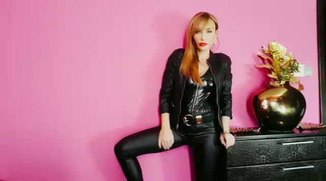 Model - Pornstar Gili Sky  leather