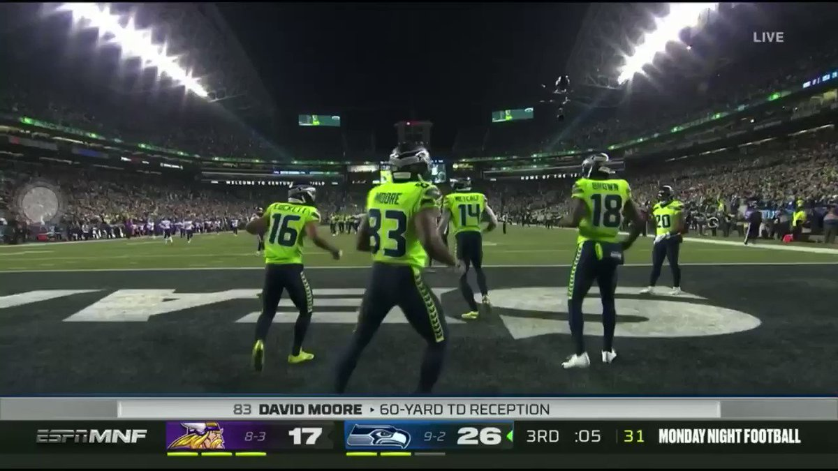 Seahawks touchdown celebration is straight FIRE   #MNF  #MINvsSEA