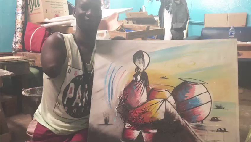 #InternationalDisabilityDay my best definition of #resilience is Adama. Malian artist, paints with his mouth, and always smiles. Credit! @DOUALEA @ZakMaiga @SAndersonICRC @JClemenzoICRC