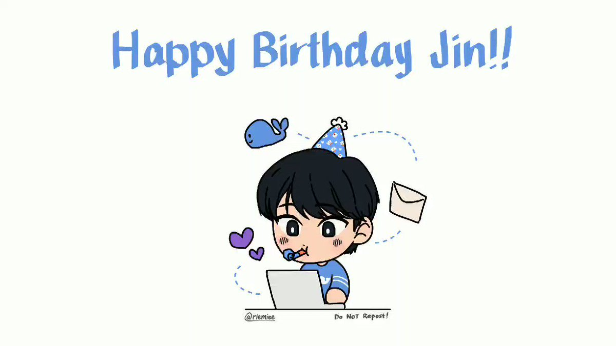 to jin: happy birthday 💜 i hope you enjoy all of armys presents 💕💌🐳 @BTS_twt #btsfanart #btsartmy #jin #HappySeokjinnieDay #HappyJinDay #LettersforJin #KoreForJin #HeartsForJinDay