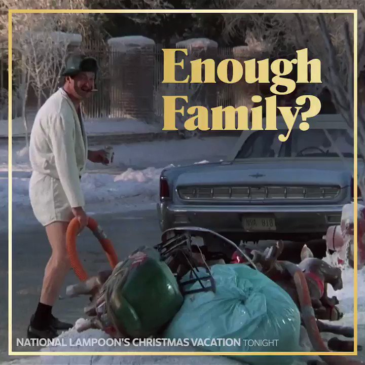 Get. More. Eddie. National Lampoon's Christmas Vacation airs back-to-back starting at 8PM ET. #BestChristmasEver