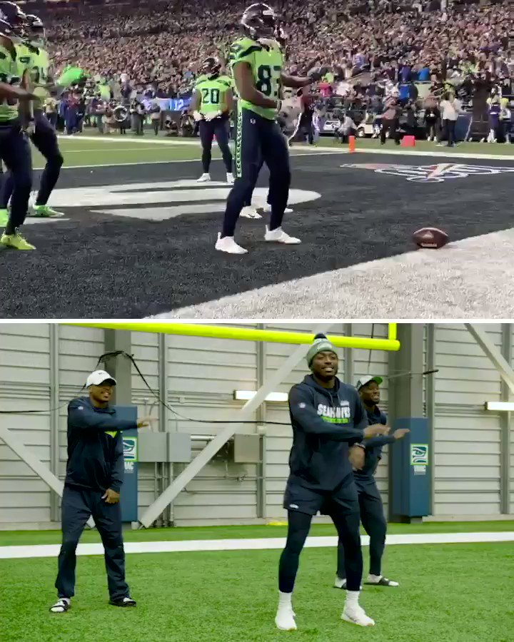 For those wondering, the Seahawks rehearsed before doing their New Edition tribute on Monday night 😅